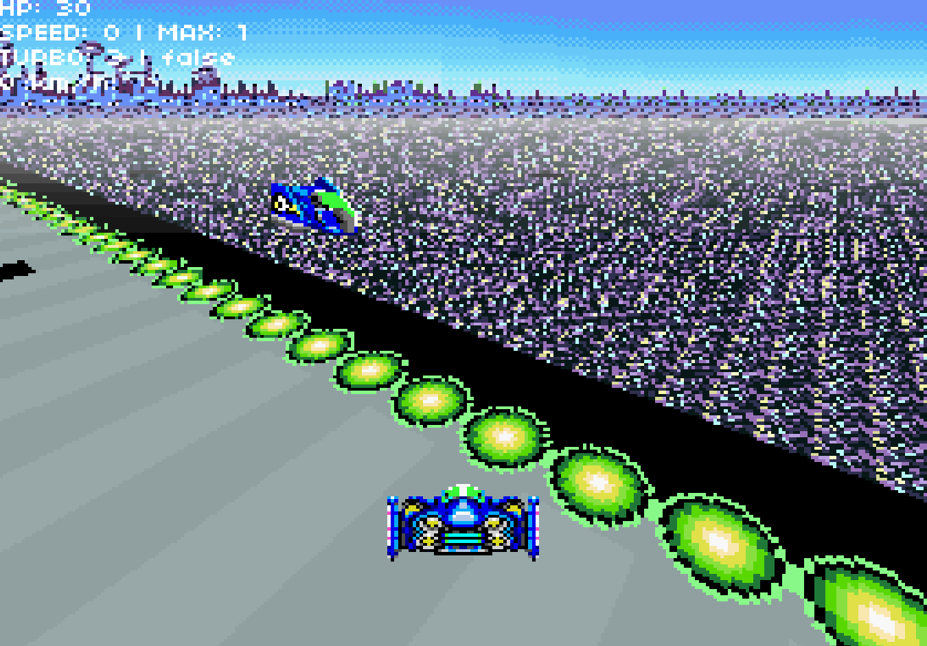 A game with graphics of a Super Nintendo game.